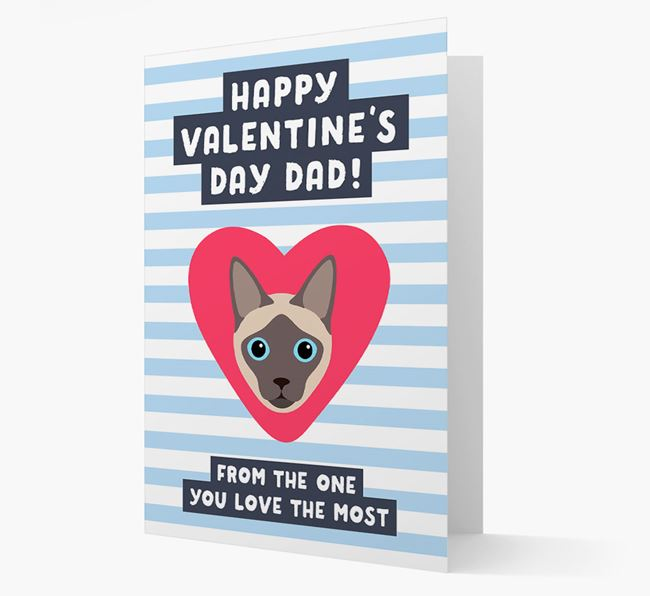 'Happy Valentine's Day Dad'- Personalised Siamese Card