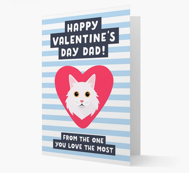'Happy Valentine's Day Dad'- Personalised Cat Card