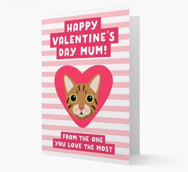 'Happy Valentine's Day Mum'- Personalised Cat Card