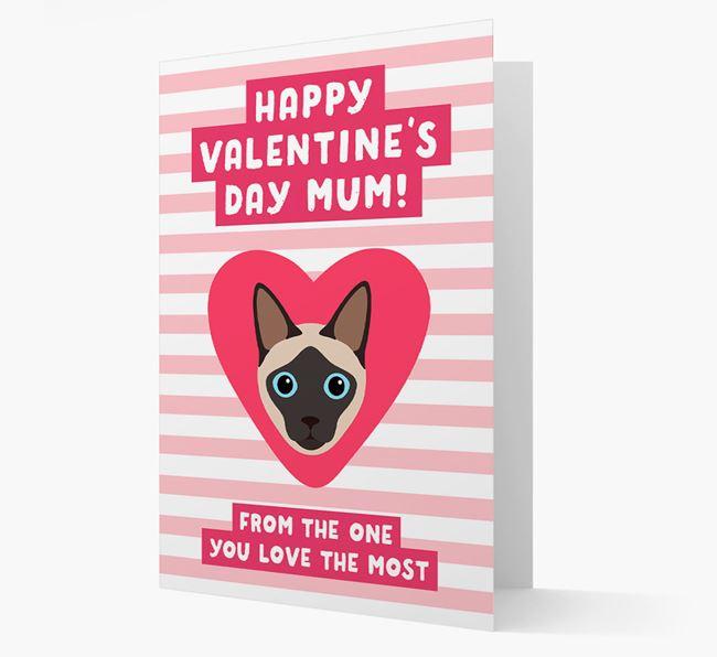 'Happy Valentine's Day Mum'- Personalised Siamese Card
