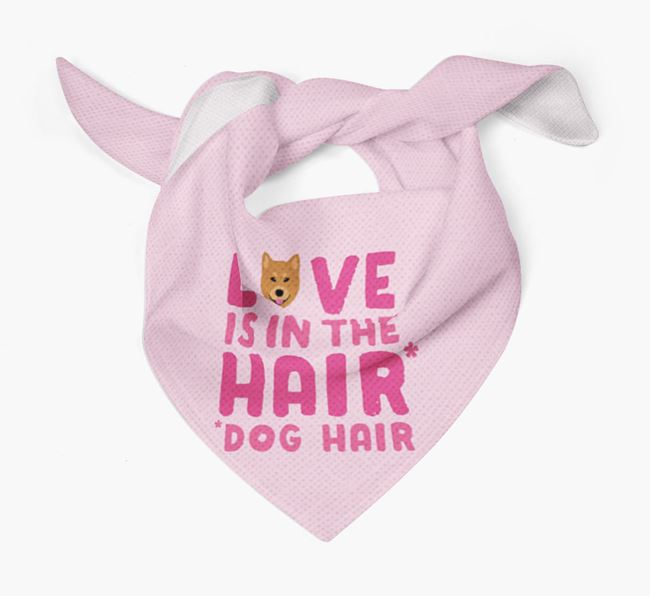 'Love is in the Hair' - Personalised Finnish Spitz Bandana