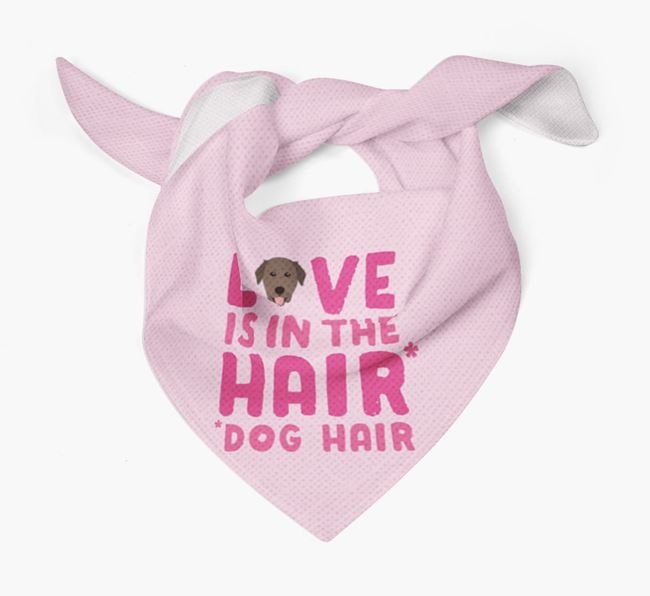 'Love is in the Hair' - Personalized Golden Labrador Bandana