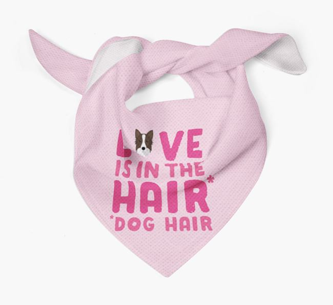 'Love is in the Hair' - Personalised Icelandic Sheepdog Bandana