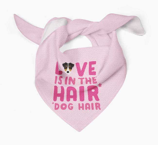 'Love is in the Hair' - Personalized Jack Russell Terrier Bandana