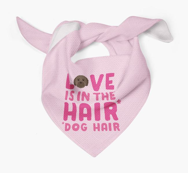 'Love is in the Hair' - Personalised Mal-Shi Bandana