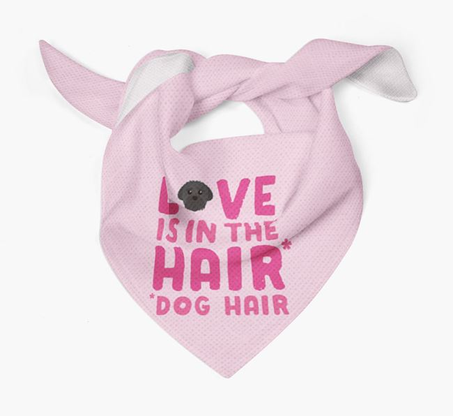'Love is in the Hair' - Personalised Peek-a-poo Bandana