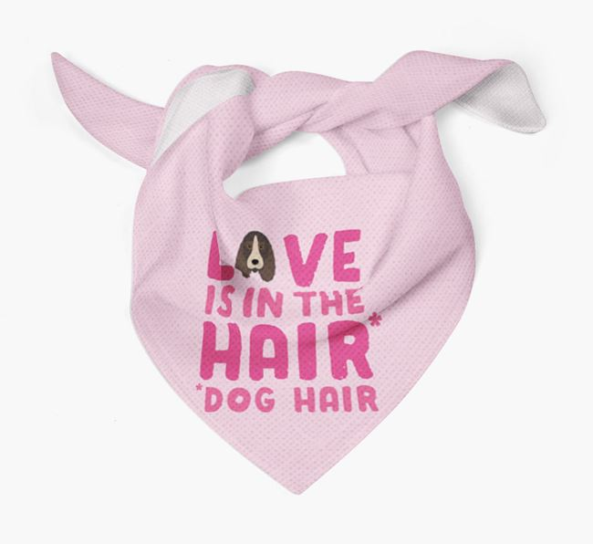 'Love is in the Hair' - Personalised Petit Basset Griffon Vendeen Bandana