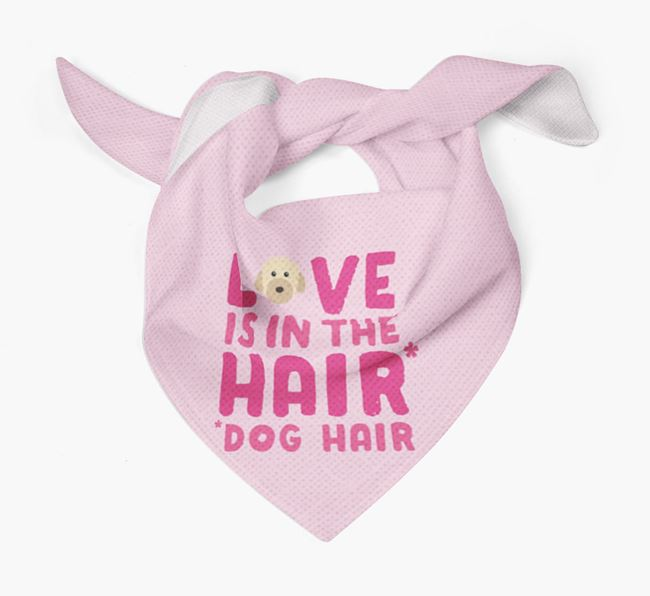 'Love is in the Hair' - Personalised Powderpuff Chinese Crested Bandana