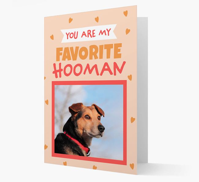 'Favorite Human' - Personalised Bearded Collie Card