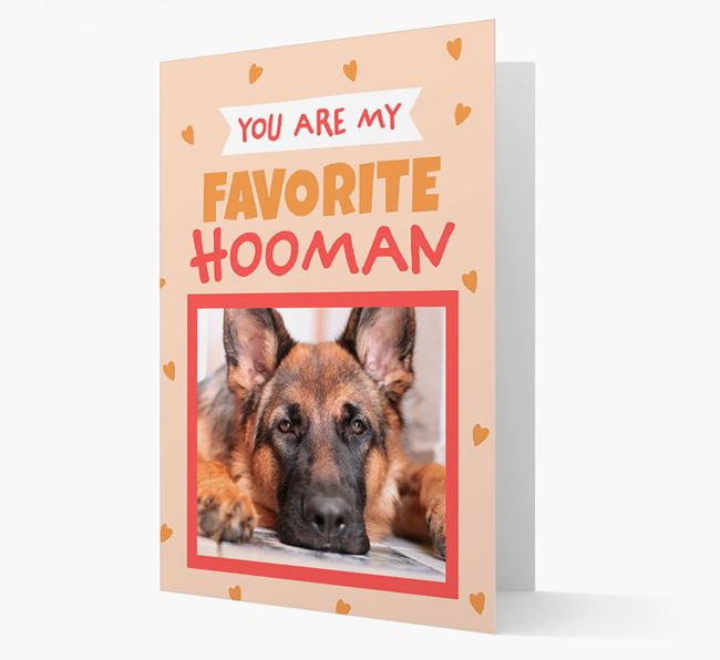 'Favorite Human' - Personalised Dog Card
