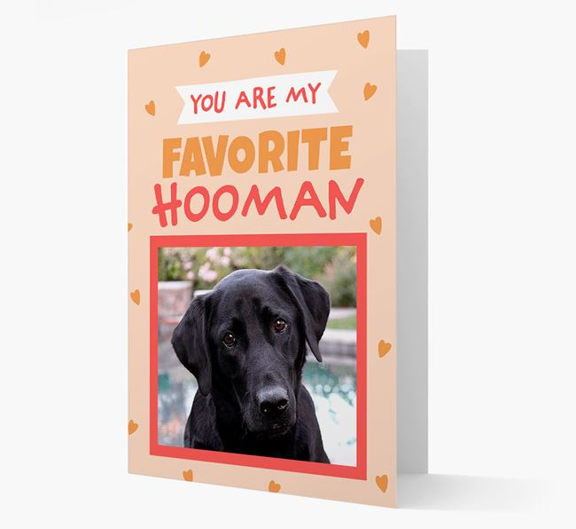 'Favorite Human' - Personalised Labrador Retriever Card