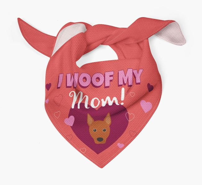 'I Woof My Mom' - Personalized Basenji Bandana