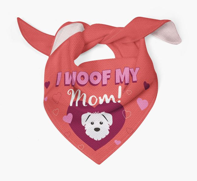 'I Woof My Mom' - Personalized Schnoodle Bandana