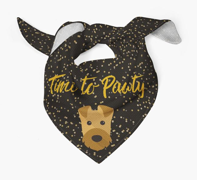 'Time to Pawty' Airedale Bandana