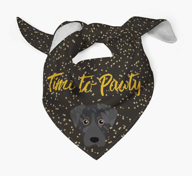 'Time to Pawty' Leopard Cur Bandana