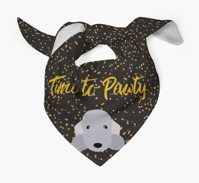 'Time to Pawty' Bedlington Bandana