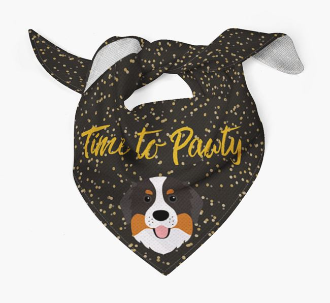 'Time to Pawty' Bernese Bandana