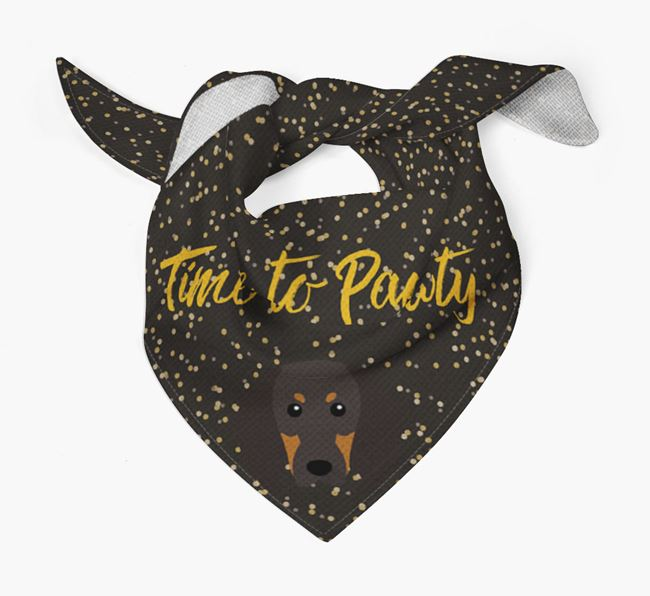 'Time to Pawty' Coonhound Bandana