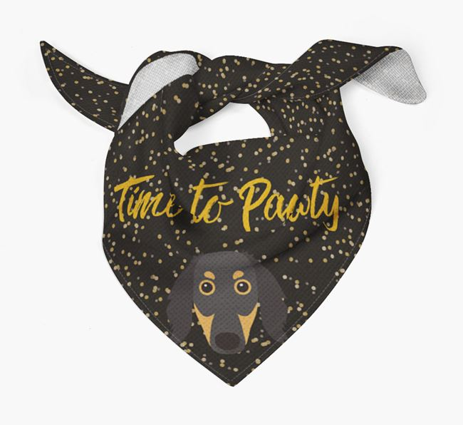 'Time to Pawty' Borzoi Bandana