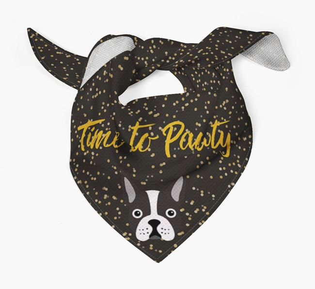 'Time to Pawty' Boston Terrier Bandana
