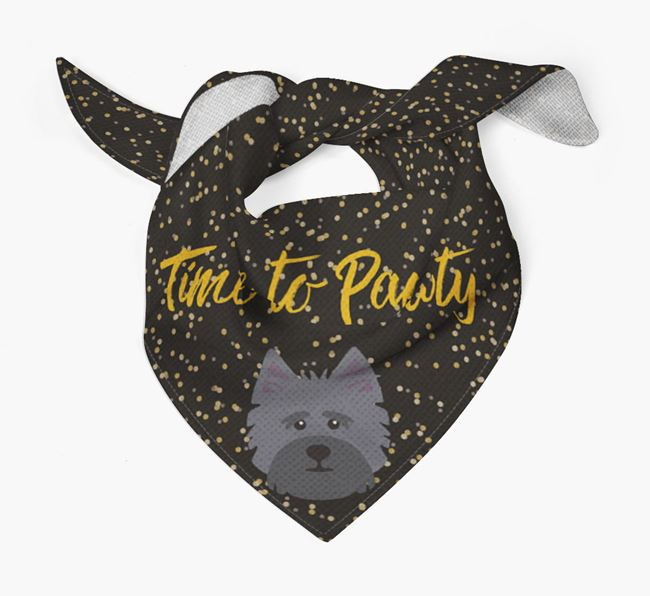 'Time to Pawty' Cairn Terrier Bandana