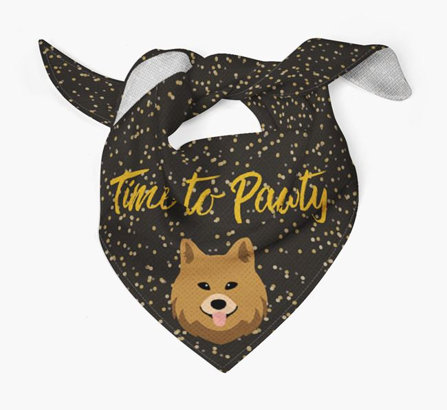 'Time to Pawty' Chow Shepherd Bandana