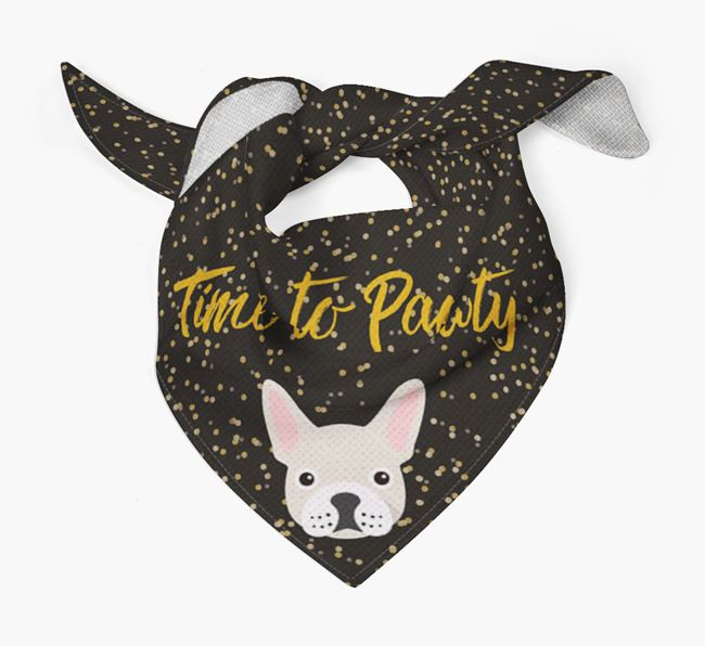 'Time to Pawty' Frenchie Bandana