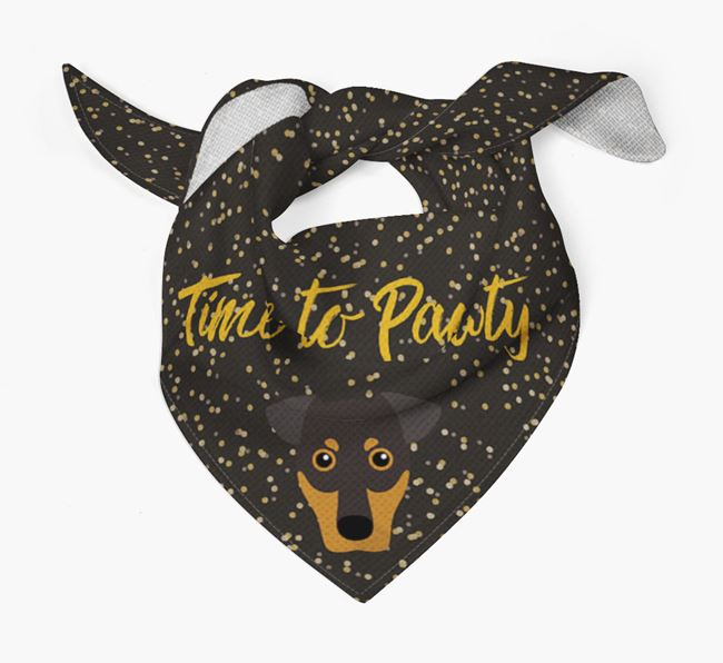 'Time to Pawty' German Pinscher Bandana