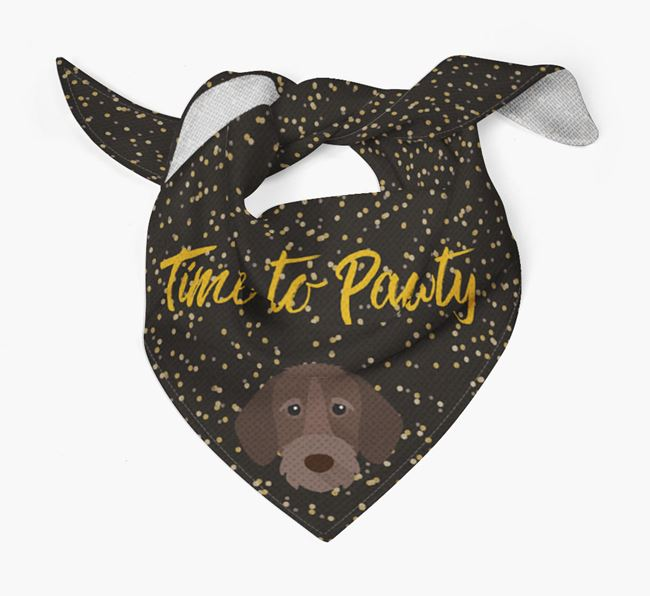 'Time to Pawty' Wirehaired Pointer Bandana