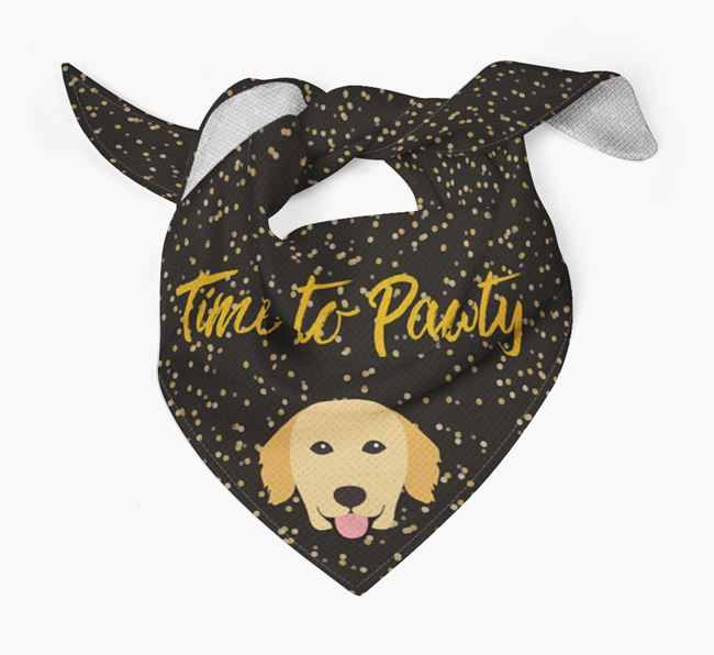 'Time to Pawty' Golden Retriever Bandana