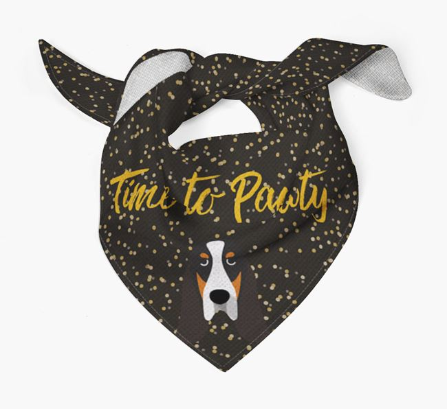 'Time to Pawty' Grand Bleu Bandana