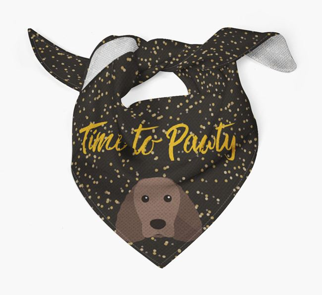 'Time to Pawty' Water Spaniel Bandana