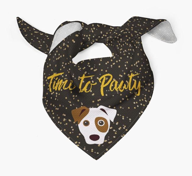 'Time to Pawty' Dog Bandana