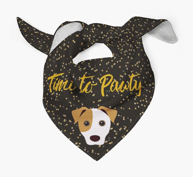 'Time to Pawty' Jack Russell Bandana
