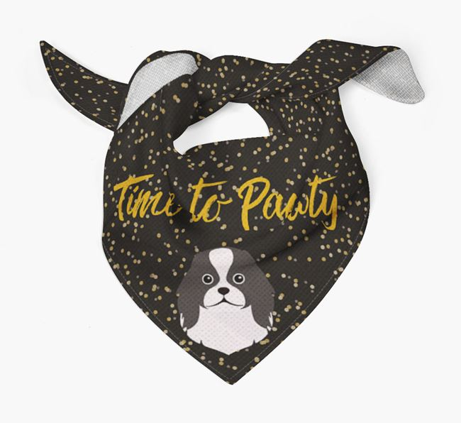 'Time to Pawty' Japanese Chin Bandana