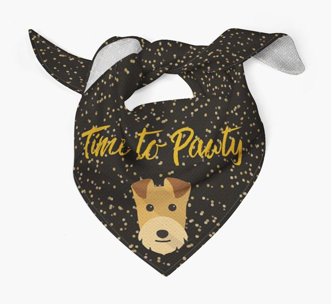 'Time to Pawty' Lakeland Bandana