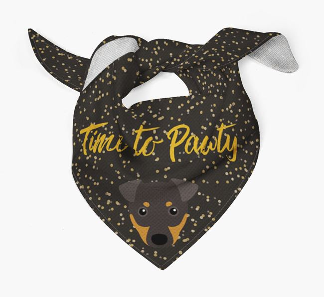 'Time to Pawty' Manchester Terrier Bandana
