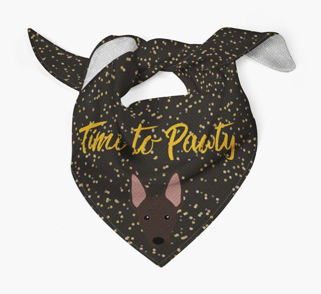 'Time to Pawty' Mexican Hairless Bandana