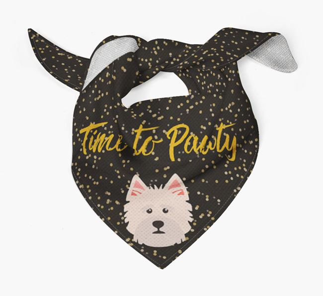 'Time to Pawty' Norfolk Terrier Bandana