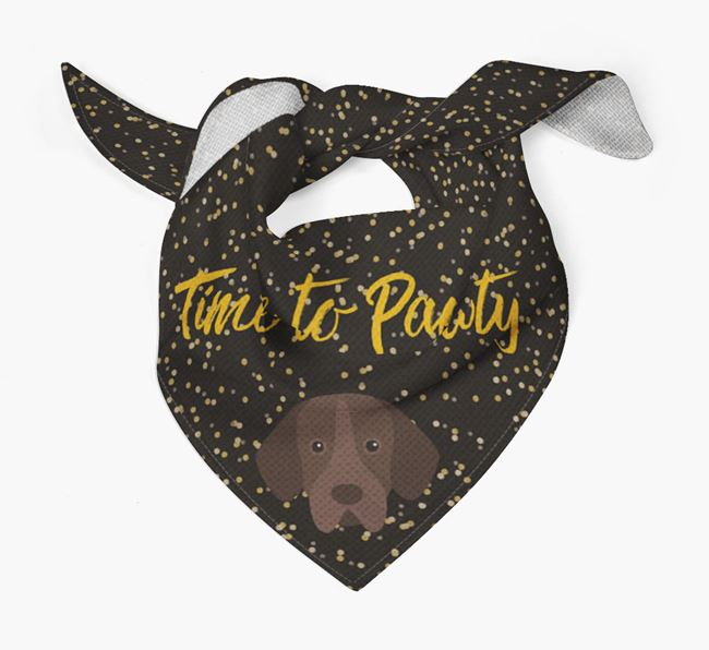 'Time to Pawty' Portuguese Pointer Bandana