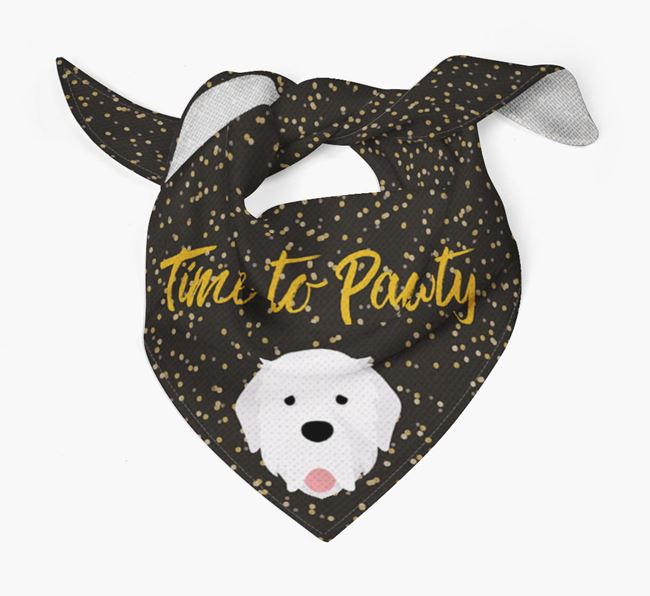 'Time to Pawty' Pyrenean Mastiff Bandana