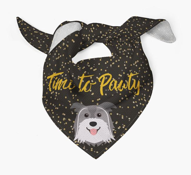 'Time to Pawty' Pyrenean Shepherd Bandana