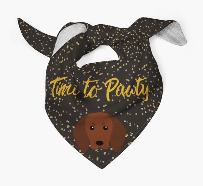 'Time to Pawty' Redbone Coonhound Bandana