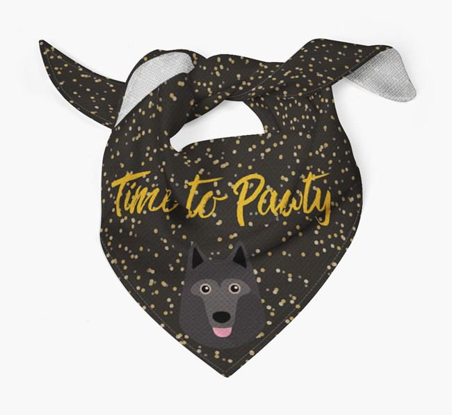 'Time to Pawty' Schipperke Bandana