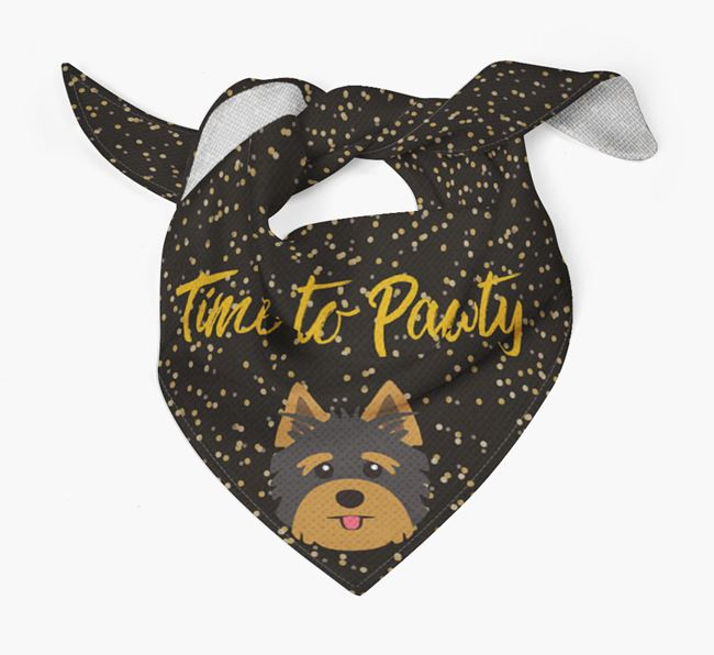 'Time to Pawty' Yorkshire Terrier Bandana