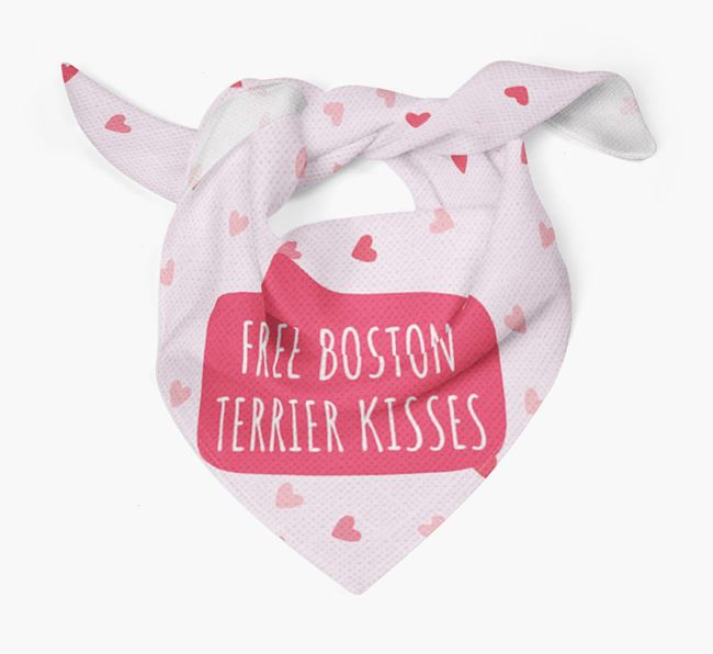 'Free Boston Terrier Kisses' Bandana
