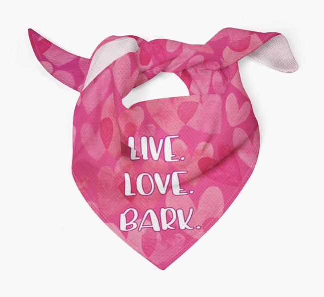 'Live. Love. Bark.' Bichon Frise Bandana