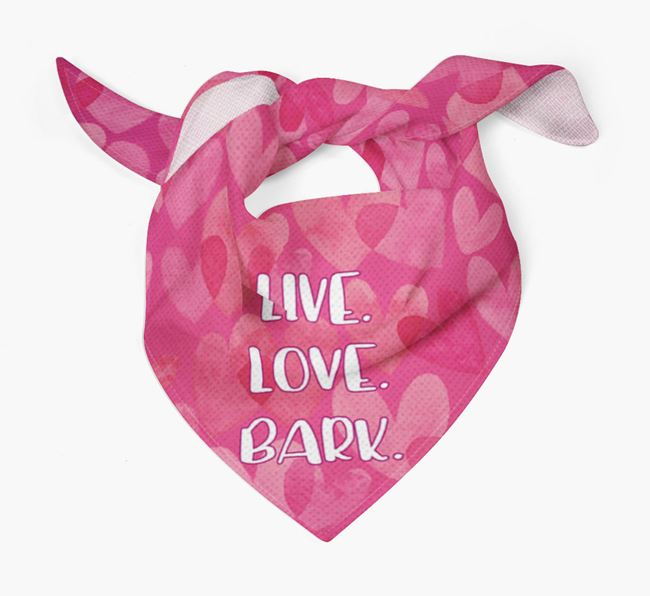 'Live. Love. Bark.' Dog Bandana