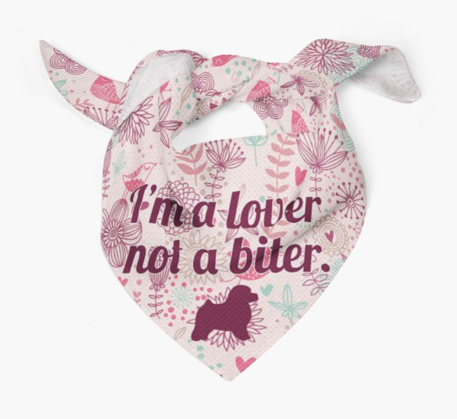 'I'm a lover not a biter.' Toy Poodle Bandana