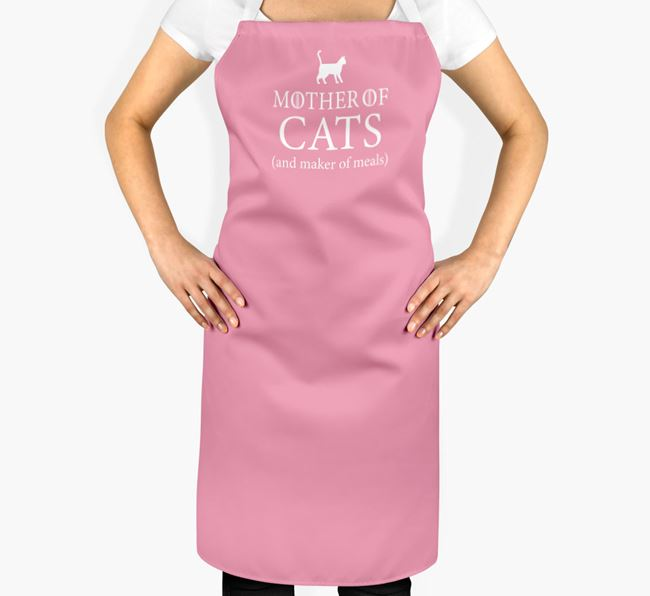 'Mother Of Cats' - Personalized Cat Apron